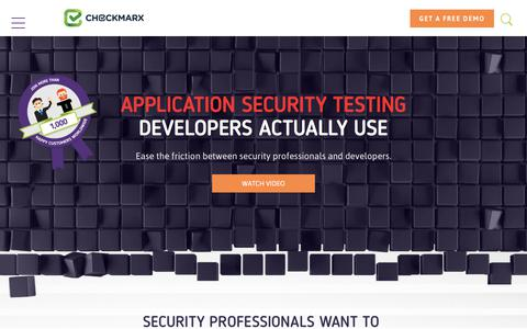 Checkmarx – Application Security Testing and Static Code Analysis