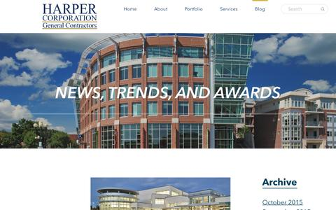 Screenshot of Blog harpercorp.com - Blog - - captured Jan. 26, 2016