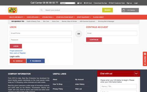 Screenshot of Signup Page bestbuy.com.vn - Best Buy Online Shopping - captured July 16, 2017
