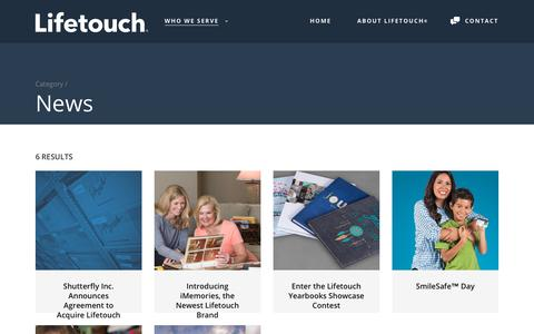 Screenshot of Press Page lifetouch.com - News Archives - Lifetouch - captured March 9, 2018