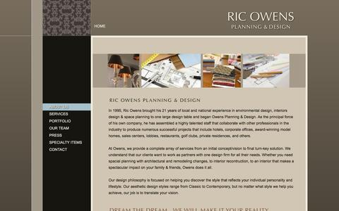 Screenshot of About Page ricowens.com - About Us - Ric Owens - Planning and Design - captured Jan. 22, 2016