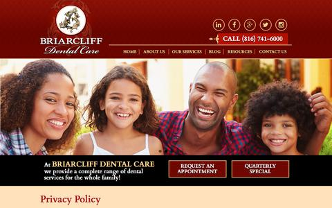 Screenshot of Privacy Page briarcliffdentalcare.com - Privacy Policy | Briarcliff Dental Care - captured June 3, 2017