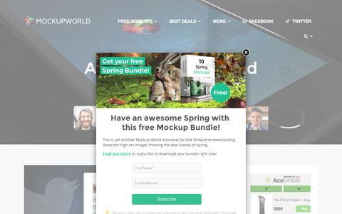 Screenshot of About Page mockupworld.co - About Mockup World | MockupWorld - captured March 30, 2016