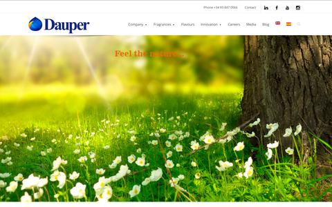 Screenshot of Home Page dauper.com - Flavours & fragrances, scents, essences, oud, neuromarketing - captured Aug. 5, 2018