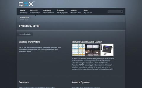 Screenshot of Products Page q5x.com - Products « Q5X - captured Oct. 3, 2014