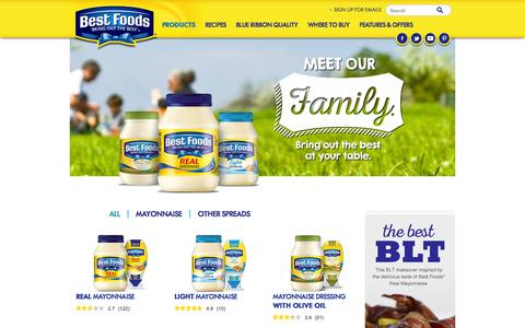 Screenshot of Products Page bestfoods.com - Products - captured Nov. 14, 2015