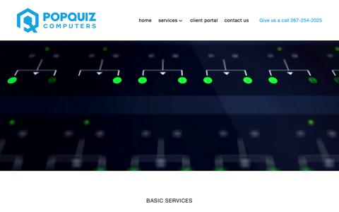 Screenshot of Services Page popquizcomputers.com - Basic Computer Services — Popquiz Computers - captured Nov. 5, 2018