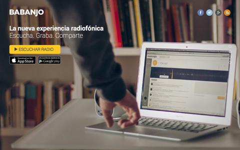 Screenshot of Home Page babanjo.com - BABANJO Radio Web - captured Sept. 30, 2014