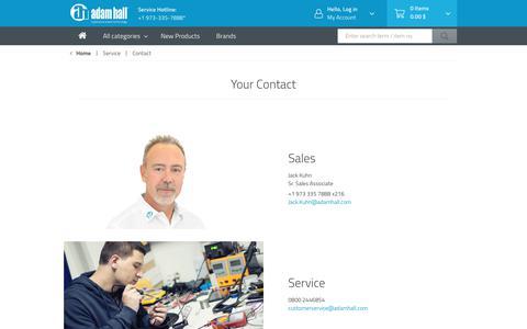 Screenshot of Contact Page adamhall.com - Contact - captured Oct. 24, 2018