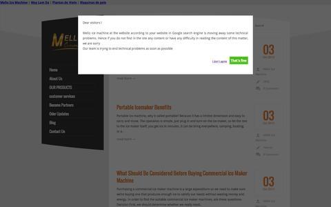 Screenshot of Blog melloicemachine.com - Blog Archives | Ice Machine | Portable Ice Maker | Mello Ice Machine - captured Sept. 24, 2015