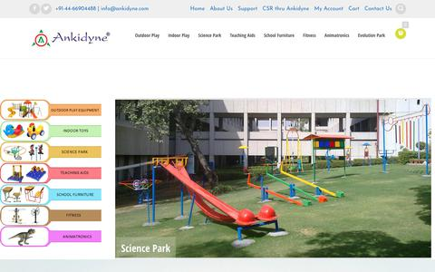 Screenshot of Home Page ankidyne.com - Outdoor play equipments | Indoor Play Equipments | playground Equipment Manufacturer | Teaching Aid | Multi play System - Tamilnadu - captured July 28, 2018