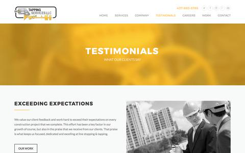 Screenshot of Testimonials Page eatapping.com - Testimonials | EA Tapping Services - captured July 7, 2017