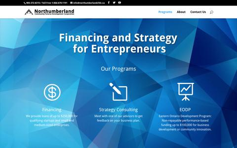 Screenshot of Home Page financingandstrategy.com - Financing and Strategy for Entrepreneurs | - captured Feb. 23, 2016