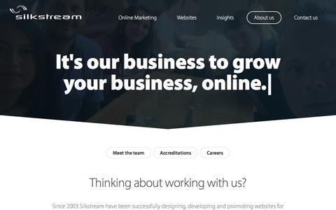 Screenshot of About Page silkstream.net - About Us | Silkstream - captured June 13, 2017