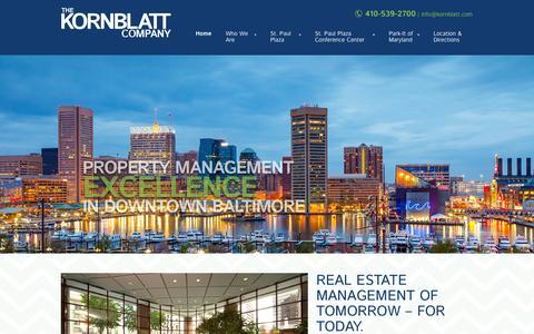Screenshot of Home Page kornblatt.com - The Kornblatt Company - The Kornblatt Company - captured Oct. 6, 2014