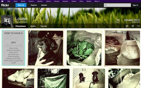 Screenshot of Flickr Page flickr.com - Flickr: Foxy and Fabulous' Photostream - captured Oct. 25, 2014