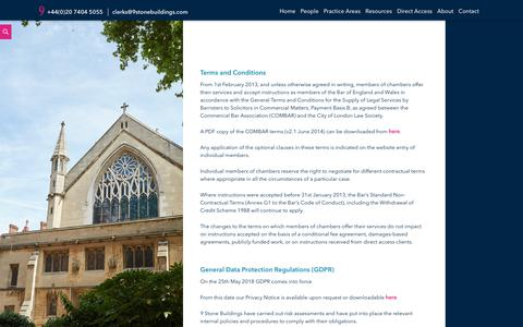 Screenshot of Terms Page 9stonebuildings.com - Terms and Conditions - 9 Stone Buildings : 9 Stone Buildings - captured Sept. 20, 2018