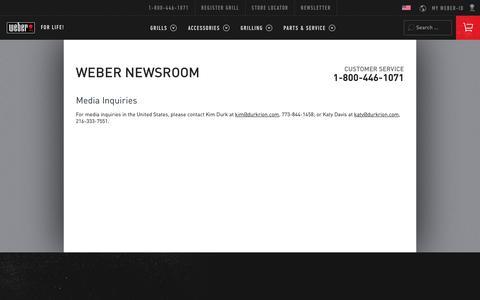 Screenshot of Press Page weber.com - Weber.com - captured June 21, 2017