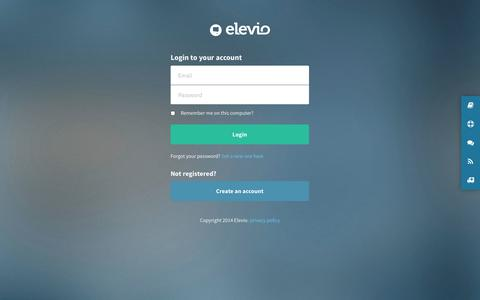 Screenshot of Login Page elev.io - Reduce support while still supporting your users - Elevio - captured Dec. 17, 2014