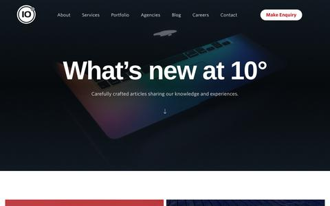 Screenshot of Blog 10degrees.uk - What's new at 10° - 10 Degrees - captured July 6, 2018
