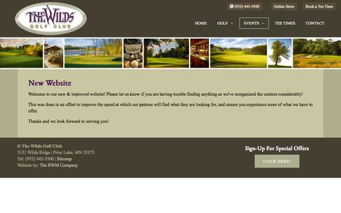 Screenshot of Press Page golfthewilds.com - The Wilds Golf Club | Prior Lake, MN | Minneapolis Public Course - Course News - captured Sept. 19, 2014