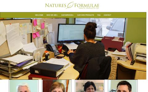 Screenshot of Team Page naturesformulae.com - Natures Formulae | custom manufacturing, developing and testing of quality natural health products. - captured Jan. 21, 2016
