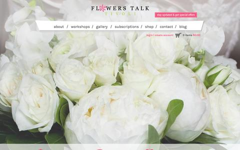 Screenshot of Home Page flowerstalk.ca - HOME - Flowers Talk TivoliFlowers Talk Tivoli - captured Feb. 10, 2016