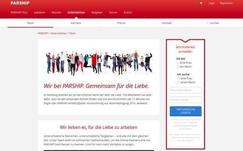 Screenshot of Team Page parship.de - Das Team der führenden Partnervermittlung | PARSHIP - captured Aug. 21, 2016
