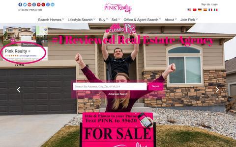 Screenshot of Home Page pinkrealty.com - Pink Realty - captured Nov. 4, 2018