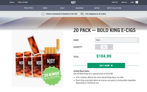 King Bold Electronic Cigarettes 20 Pack | NJOY