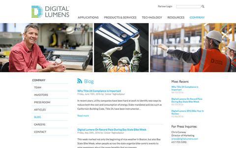 Screenshot of Blog digitallumens.com - Blog | Commercial & Industrial LED Lighting | Digital Lumens - captured July 4, 2016