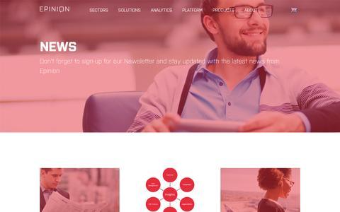 Screenshot of Press Page epinionglobal.com - News - captured Sept. 21, 2016