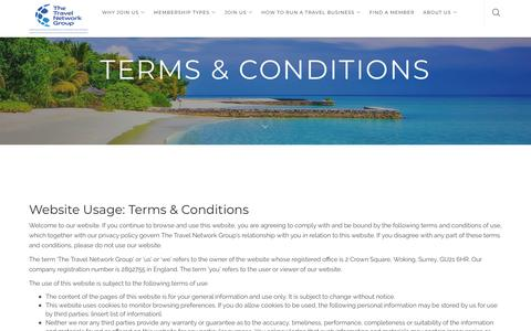 Screenshot of Terms Page thetravelnetworkgroup.co.uk - Terms & Conditions | TheTravel Network Group - captured Oct. 15, 2018
