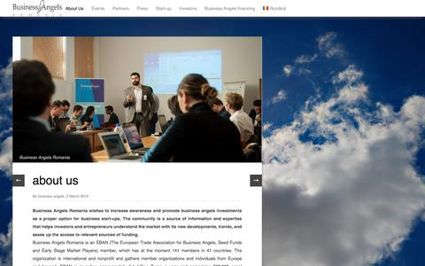 Screenshot of About Page businessangelsromania.ro - Business Angels Romania | Business Angels Romania - captured July 16, 2016