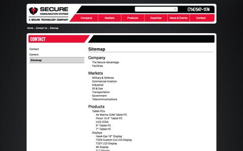 Screenshot of Site Map Page securecomm.com - Sitemap - Secure Communication Systems - captured Nov. 2, 2014