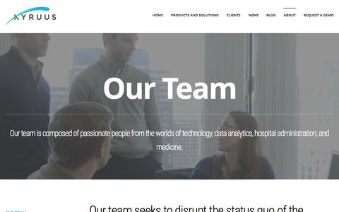 Screenshot of Team Page kyruus.com - Our Team | Kyruus | Leading Provider of Patient Access Solutions - captured Nov. 23, 2015