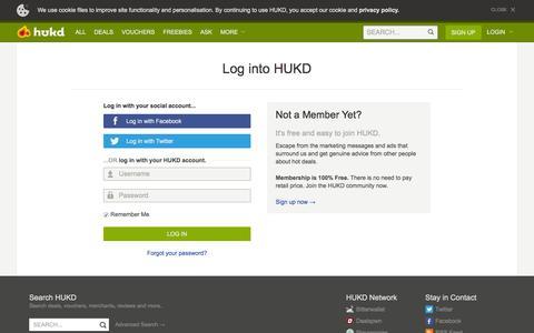 User signin / join - Hot UK Deals
