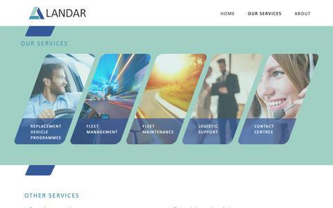 Screenshot of Services Page landarltd.com - Our Services - Landar - captured Nov. 4, 2018