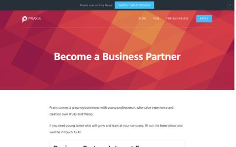 Become a Business Partner | Praxis