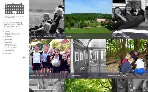 Screenshot of Home Page windlesham.com - Independent Prep School in West Sussex   Windlesham House - captured Sept. 22, 2014