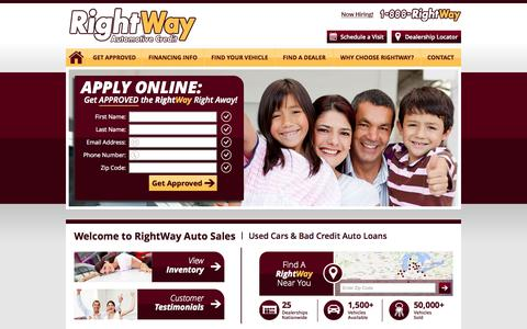 Screenshot of Home Page Site Map Page rightway.com - RightWay Auto Sales | Used Cars & Bad Credit Auto Loans - captured Oct. 7, 2014