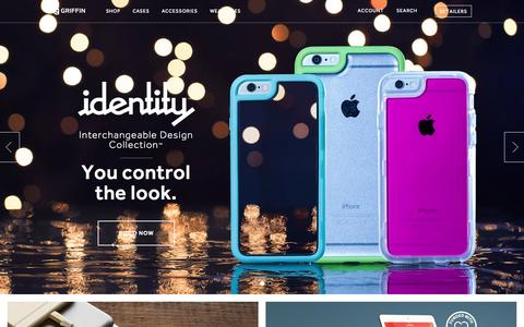Screenshot of Home Page griffintechnology.com - Cases and Accessories for Tablets, Mobile Devices, and More | Griffin Technology - captured July 20, 2015