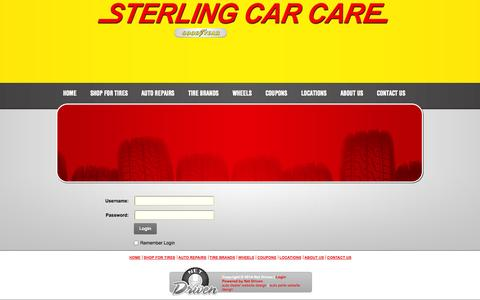 Screenshot of Login Page sterlingcarcare.com - User Log In - captured Oct. 7, 2014