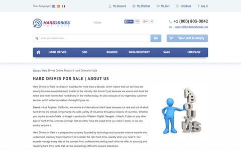 Screenshot of About Page harddrivesforsale.com - Hard Drives Online Retailer | Hard Drives for Sale - captured Dec. 7, 2015