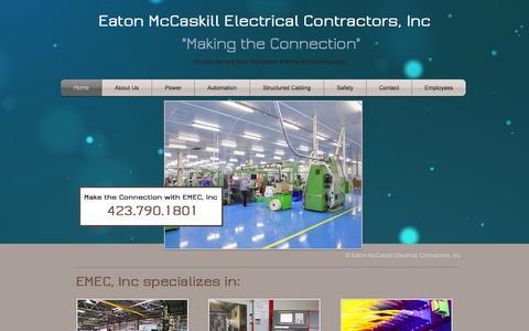 Screenshot of Home Page emecinc.com - EMEC, Inc Eaton McCaskill Electrical Contractors - captured Jan. 25, 2016