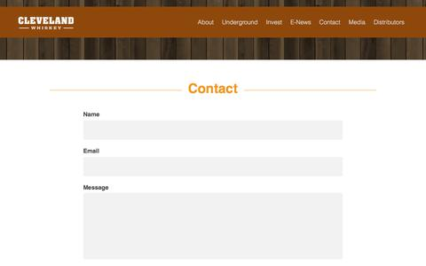 Screenshot of Contact Page clevelandwhiskey.com - Contact «  Cleveland Whiskey - Whiskey. Without Limits.™ - captured Aug. 2, 2017