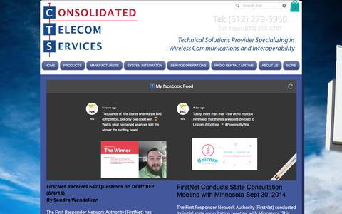 Screenshot of Press Page cts411.com - CTS Consolidated Telecom Services  | NEWS - captured Nov. 11, 2016