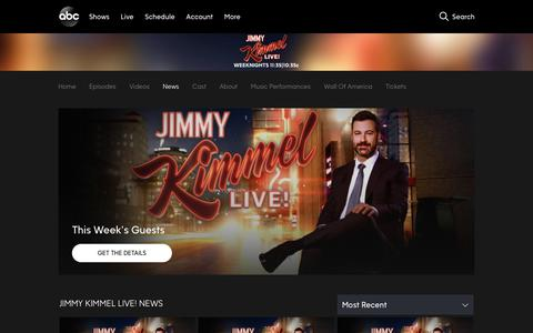 Screenshot of Press Page go.com - Jimmy Kimmel Live! | News & Blogs - captured Dec. 5, 2018