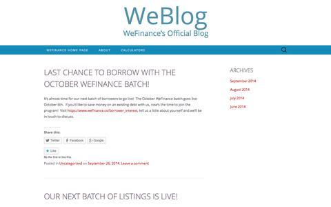 WeBlog | WeFinance's official blog