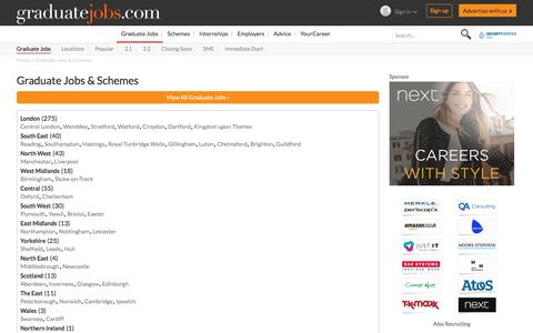 Screenshot of Locations Page graduate-jobs.com - Graduate Jobs & Schemes | graduate-jobs.com - captured July 2, 2017